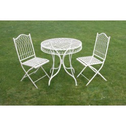 Hampton Cream Garden Table and Chair Set