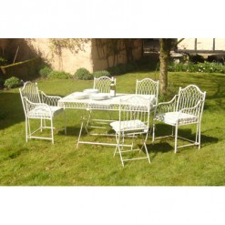 Hampton cream patio furniture set