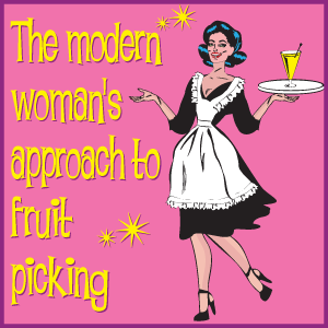 A Modern Woman's Approach to Fruit Picking