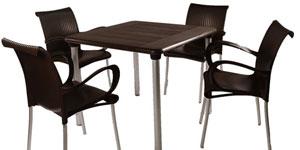 Garden Furniture 4 Chair Sets