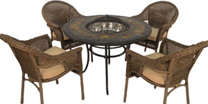 Firepit Table and Chair Sets