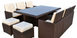 Garden Furniture 10 Chair Sets