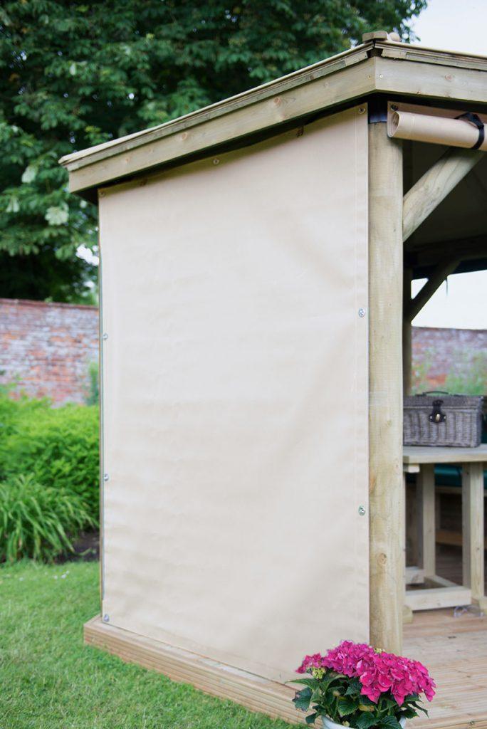 Set of 6 Curtains for 3m Hexagonal Garden Gazebo - Cream