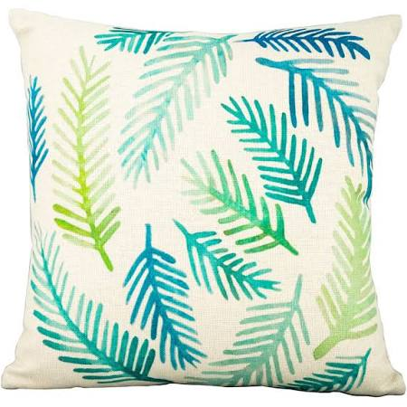 Green Fern Leaf on White Scatter Cushions Set of 4