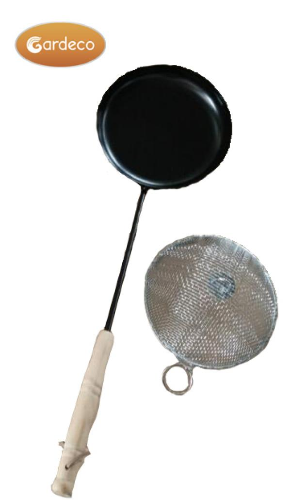 Gardeco Popcorn Pan with Long Handle