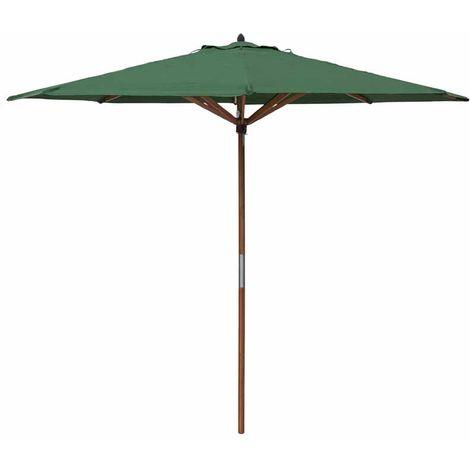 Rowlinson Willington 2.7m Green Wooden Parasol