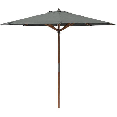 Rowlinson Willington 2.7m Grey Wooden Parasol