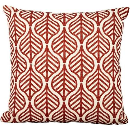Red Leaves on White Scatter Cushions Set of 4