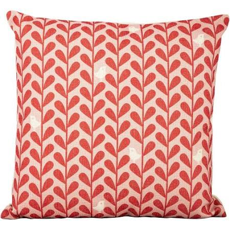 White Birds on Red Leaf Scatter Cushions Set of 4