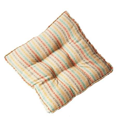 Pair of Multicoloured Stitch Seat Pads