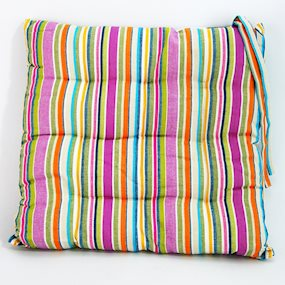 Pair of Bright Striped Seat Pads