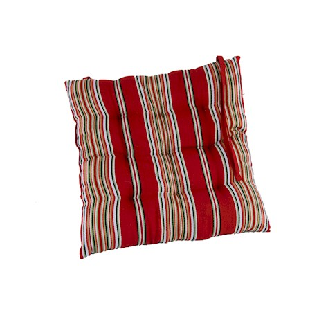 Pair of Red Striped Seat Pads