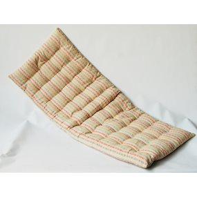 Multicoloured Striped Bench Cushion