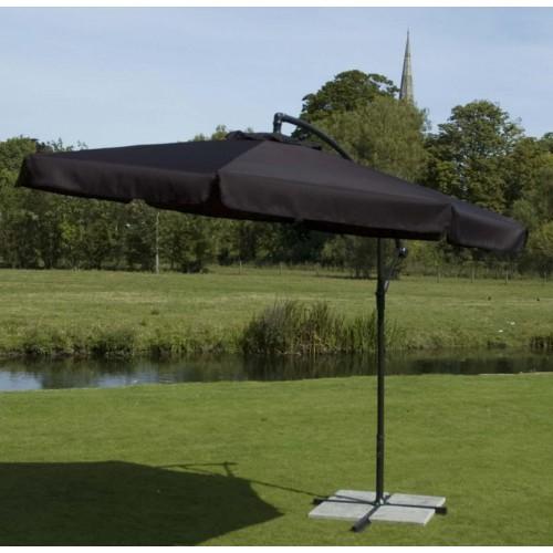 Europa Cantilever Black Parasol 3m