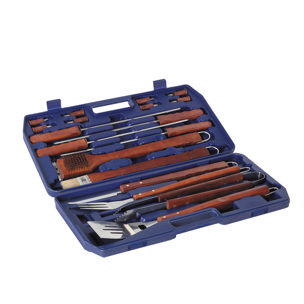 Lifestyle 18 Piece BBQ Toolkit with Case