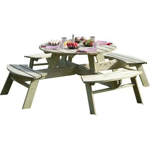 Rowlinson Round Picnic Table, Rowlinson Round Picnic Table