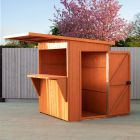 Shire Garden Bar and Store Pent Roof 6x4