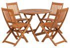 Royalcraft Manhattan Round Folding Table & 4 Manhattan Folding Chairs