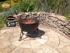 Gardeco Meredir Ex-Large 60cm Round Cast Iron BBQ Grill Fire Bowl