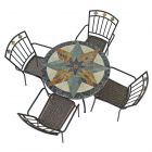 Montilla 91cm Patio Table with 4 Malaga Chairs