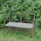 Avalon Garden Bench Rusty
