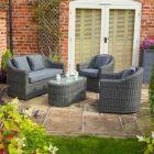 Rowlinson Bunbury Grey Weave Rattan Sofa Set