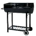1/2 Barrel Charcoal Barbecue with Wind Shield