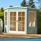 Shire Hampton Corner Summerhouse 7x7 (not supplied painted)