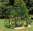 Halls Popular 4x6 Greenhouse Forest Green