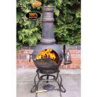 Gardeco Toledo Large Bronze Cast Iron Chiminea with BBQ Grill