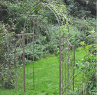 Lattice Arch with Side Panels Antique Green Rust