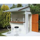 Shire Garden Bar Apex Roof 6x4 (stools and decking not included)