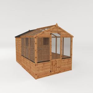 Mercia Traditional Apex Combi Greenhouse with Storage Shed 10x6