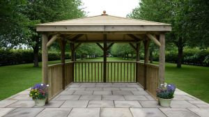 Forest 3.5m Square Timber Roof Gazebo No Base