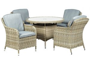 Royalcraft Wentworth Rattan Round 4 Seater Imperial Dining Set