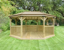 Forest 5.1m Premium Oval Timber Roof Gazebo