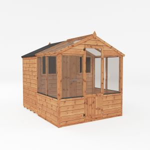 Mercia Traditional Apex Combi Greenhouse with Storage Shed 8x6