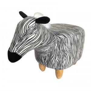 Gardeco Ziggy the Zebra Velvet Footstool