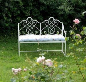 Avalon Garden Bench Cream (cushion not included)