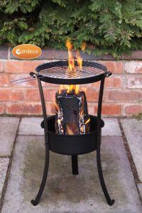 Gardeco Swedish Log Burner with BBQ Grill