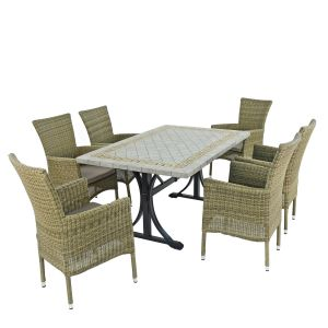 Burlington Dining Table with 6 Dorchester Chairs
