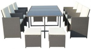 Royalcraft Cannes Grey 10-Seater Cube Set