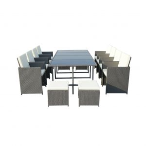 Royalcraft Cannes Grey 12-Seater Cube Set