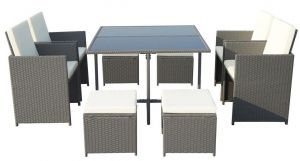 Royalcraft Cannes Grey 8-Seater Cube Set