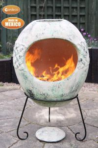 Gardeco Haeddyn Ellipse Extra Large Mexican Clay Chiminea Celtic