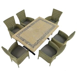Charleston Dining Table with 6 Dorchester Chairs