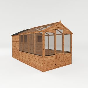 Mercia Traditional Apex Combi Greenhouse with Storage Shed 12x6