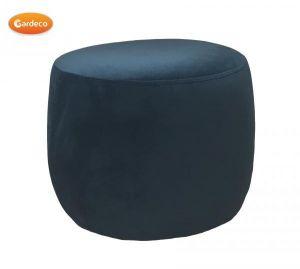 Gardeco Teal Velvet Round Footstool
