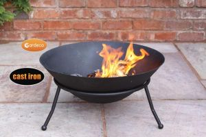 Gardeco Emrys 60cm Round Cast Iron Fire Bowl