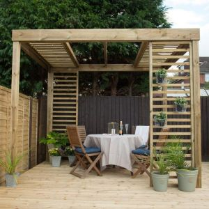 Forest Dining Pergola With Panels